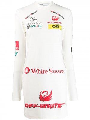 Приталенное платье с логотипом Off-White