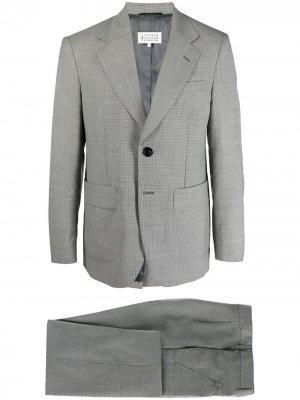 Клетчатый костюм с однобортным пиджаком Maison Margiela. Цвет: белый