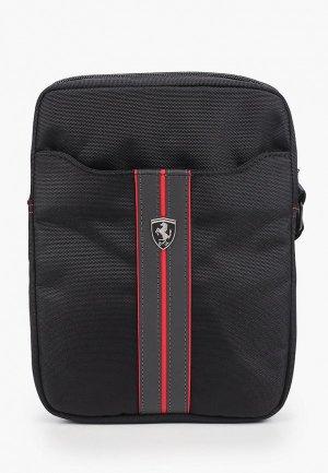 Сумка Ferrari Urban Bag Nylon/PU Carbon Black. Цвет: черный