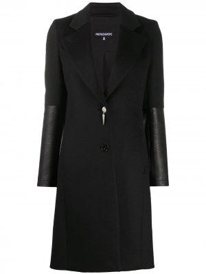 Пальто со вставками Patrizia Pepe. Цвет: черный