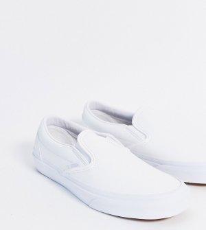 Белые кеды-слипоны из искусственной кожи Classic эксклюзивно на ASOS-Белый Vans