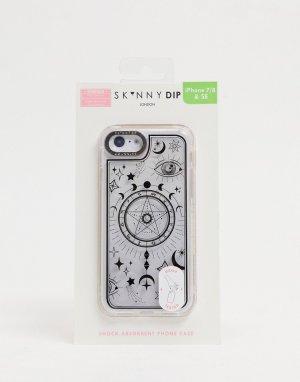 Чехол для iPhone с черным астрологическим принтом -Черный цвет Skinnydip