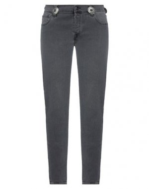 Джинсовые брюки HTC. Цвет: серый
