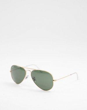 Солнцезащитные очки-авиаторы в золотистой оправе стиле унисекс 0RB3025-Золотистый Ray-Ban