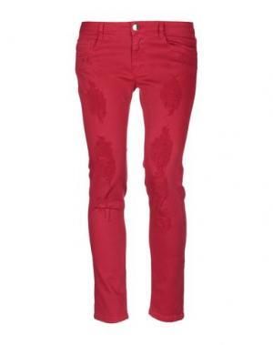Джинсовые брюки KI6? WHO ARE YOU?. Цвет: пурпурный