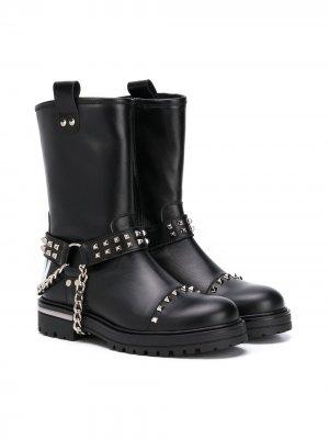 Декорированные ботинки Philipp Plein. Цвет: черный