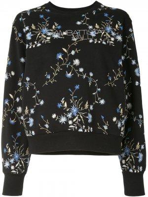 Толстовка с цветочной вышивкой Giambattista Valli. Цвет: черный