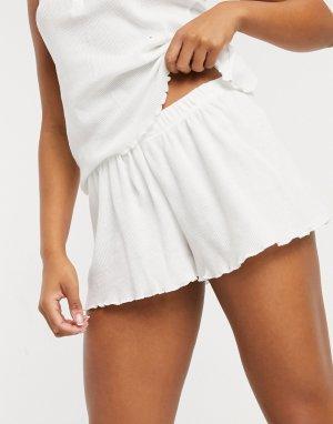 Белые пижамные шорты от комплекта -Белый ASOS DESIGN