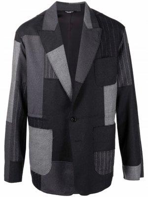 Пиджак в технике пэчворк Dolce & Gabbana. Цвет: черный