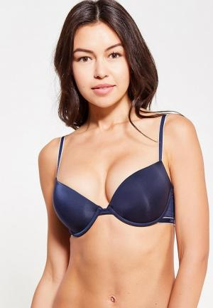 Бюстгальтер Emporio Armani PUSH UP BRA. Цвет: синий