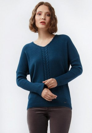 Пуловер Finn Flare. Цвет: синий