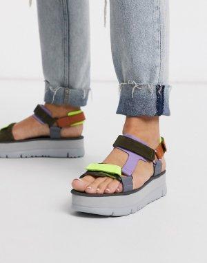 Лавандовые сандалии на платформе -Мульти Camper