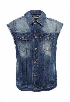 Жилет джинсовый G-Star GS001EMBEL35. Цвет: синий