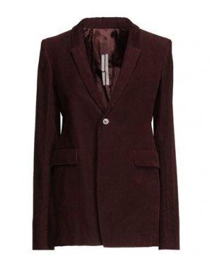 Пиджак RICK OWENS. Цвет: красно-коричневый