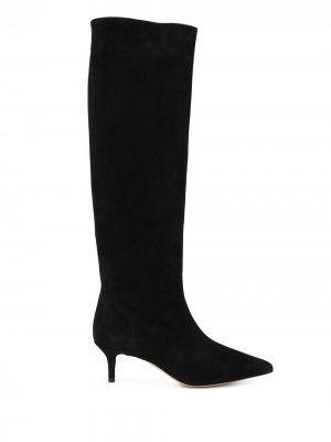 Сапоги с заостренным носком Semicouture. Цвет: черный