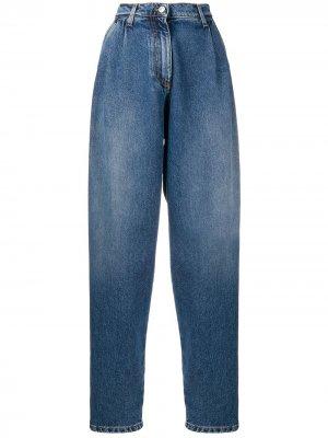 Зауженные джинсы с завышенной талией MSGM. Цвет: синий