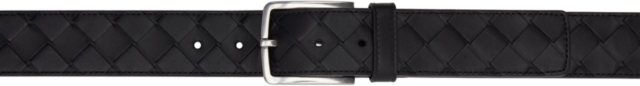 Black Intrecciato Wide Belt Bottega Veneta. Цвет: 8803 black silver