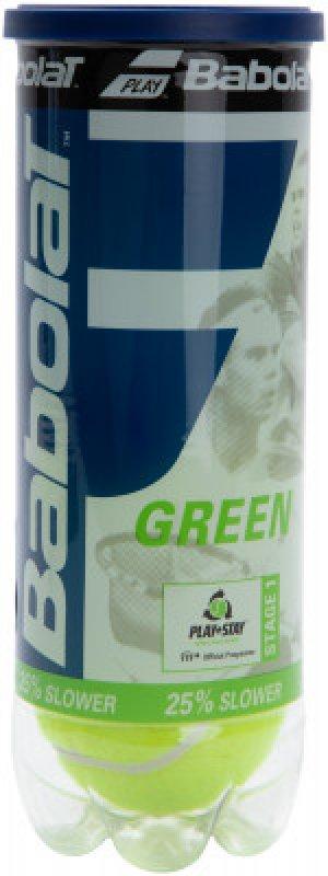 Мяч для большого тенниса GREEN X3 р.NS Babolat. Цвет: зеленый