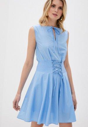 Платье Giorgio Di Mare. Цвет: голубой