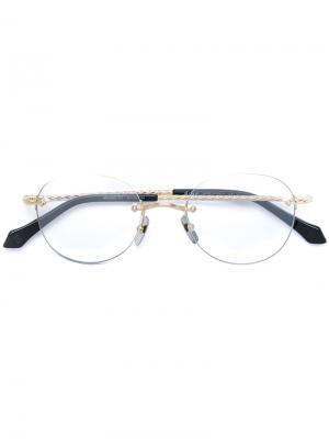 Очки без оправы Brioni. Цвет: металлический