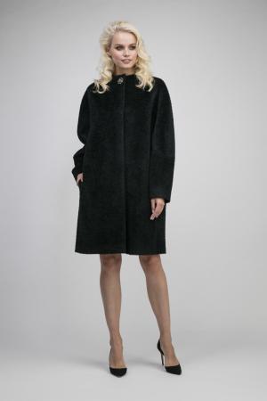 Женское пальто из альпака сури на большие размеры Elisabetta. Цвет: изумрудный