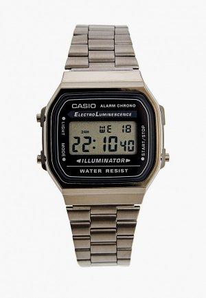 Часы Casio Collection A168WEGG-1AEF. Цвет: серебряный