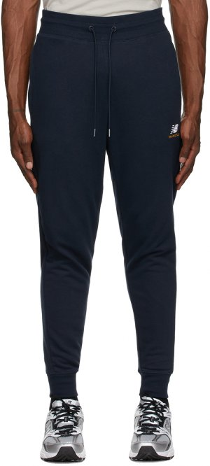 Navy Essentials Embroidered Lounge Pants New Balance. Цвет: ecl eclipse