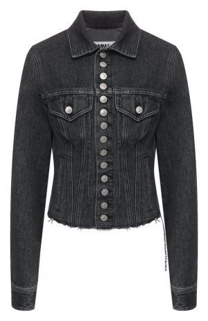 Джинсовая куртка Mm6. Цвет: темно-серый