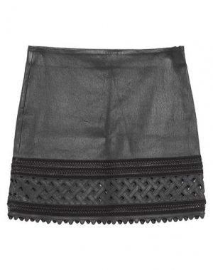 Мини-юбка JITROIS. Цвет: черный