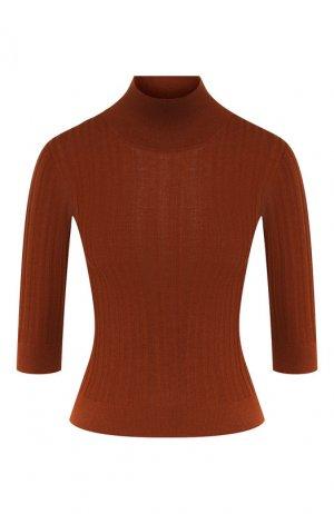 Пуловер из смеси кашемира и шелка Loro Piana. Цвет: коричневый