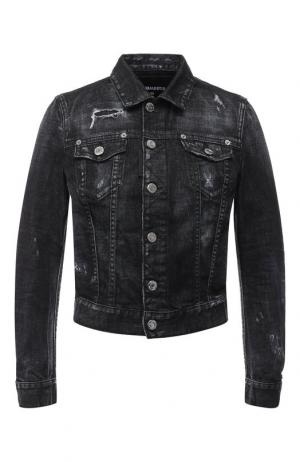 Джинсовая куртка Dsquared2. Цвет: черный