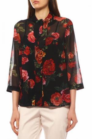 Блуза с топом Bovona. Цвет: черный, красный