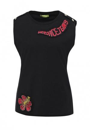 Майка Versace Jeans. Цвет: черный
