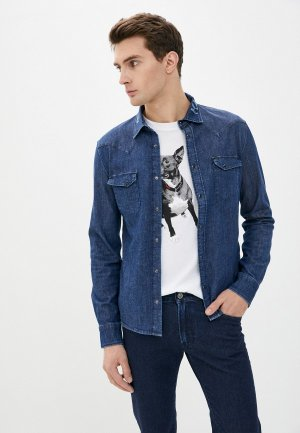 Рубашка джинсовая Karl Lagerfeld Denim. Цвет: синий