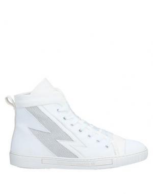 Кеды и кроссовки ALBERTO FERMANI. Цвет: белый