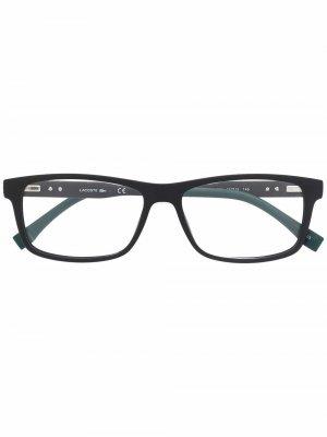 Солнцезащитные очки в прямоугольной оправе Lacoste. Цвет: черный