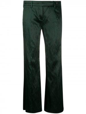 Расклешенные брюки 1990-х годов Prada Pre-Owned. Цвет: зеленый