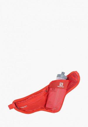 Пояс для бега Salomon ACTIVE BELT. Цвет: красный