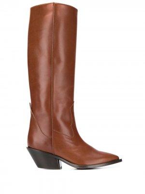 Сапоги с заостренным носком A.F.Vandevorst. Цвет: коричневый