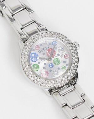 Часы с браслетом и маленьким циферблатом -Серебряный Guess