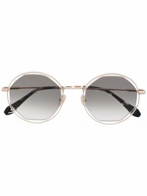 Солнцезащитные очки с эффектом градиента GIGI STUDIOS. Цвет: золотистый