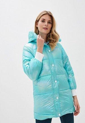 Куртка утепленная Allegri. Цвет: голубой