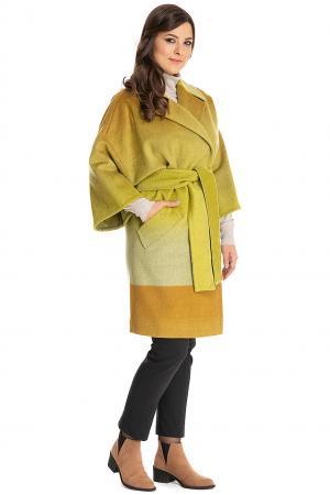 Женское пальто кимоно на запахе Teresa Tardia. Цвет: салатовый