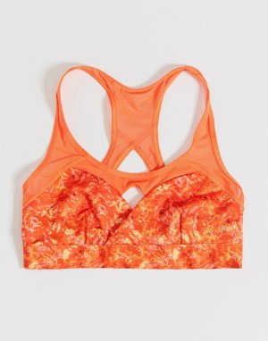 Эксклюзивный оранжевый бюстгальтер для груди большого размера Wolf & Whistle