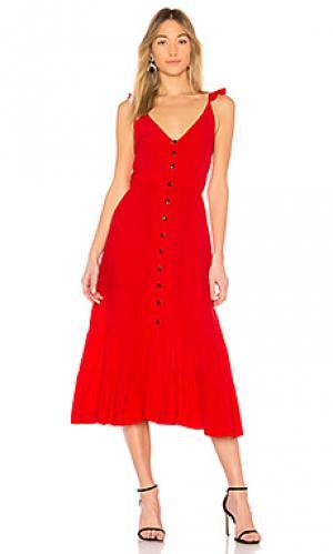 Платье миди asher SWF. Цвет: красный