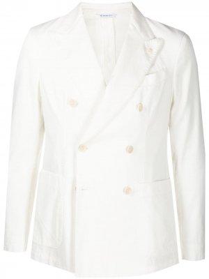 Двубортный пиджак Manuel Ritz. Цвет: белый