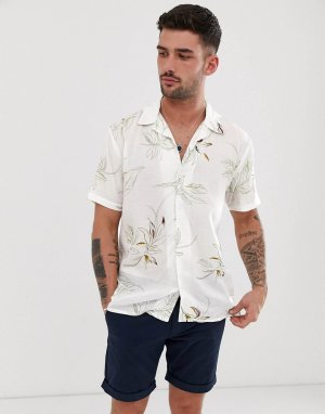 Рубашка с короткими рукавами и принтом -Белый Bellfield