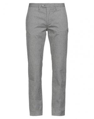 Повседневные брюки HAMAKI-HO. Цвет: свинцово-серый