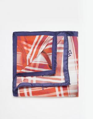 Платок для пиджака в клетку Vivienne Westwood. Цвет: оранжевый