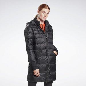 Пуховик Outerwear Core Long Down Jacket Reebok. Цвет: black